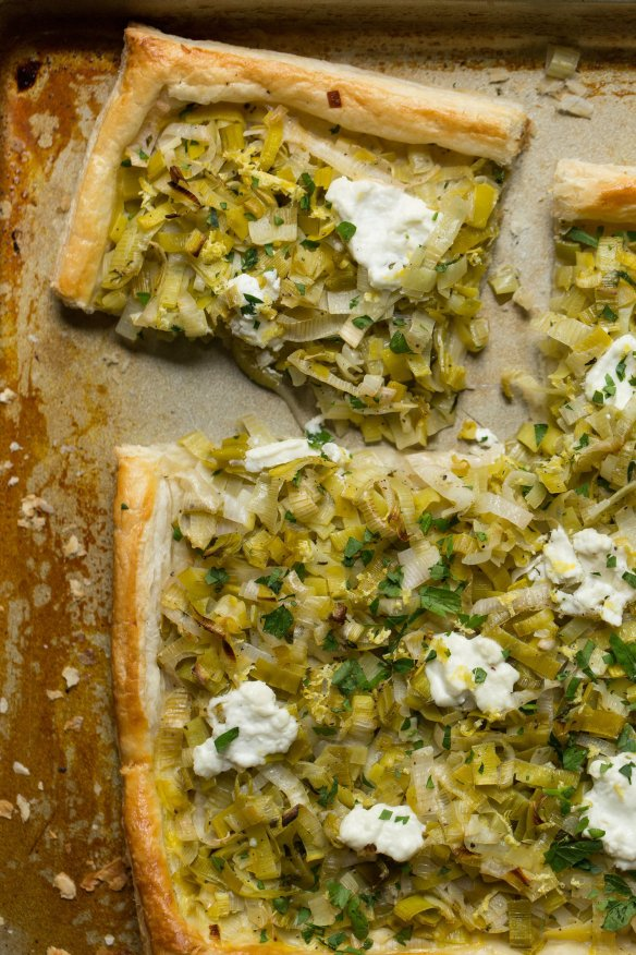Vegetarian+Recipe-+Leek+and+Goat+Cheese+Tart.+Find+the+recipe+on+CTEatsOut.com